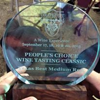 Award winning Texas wine